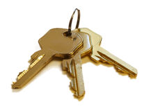 Δέσμη των χρυσών κλειδιών Στοκ Εικόνες