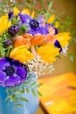 Δέσμη των anemones και των τουλιπών Στοκ εικόνες με δικαίωμα ελεύθερης χρήσης