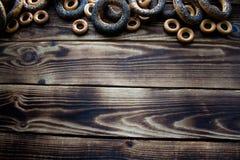 Δέσμη bagels με τους σπόρους παπαρουνών Στοκ Εικόνα
