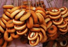 Δέσμη bagels Στοκ φωτογραφία με δικαίωμα ελεύθερης χρήσης