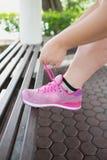 Δέστε το πάνινο παπούτσι και το τρέξιμό σας Στοκ Εικόνα