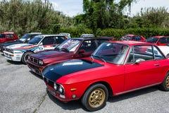 Δέλτα και Lancia Fulvia Cars της Lancia Στοκ εικόνα με δικαίωμα ελεύθερης χρήσης