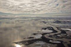 Δέλτα ποταμών της Mackenzie, NWT, Καναδάς Στοκ Φωτογραφία