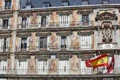 Δήμαρχος Plaza - λεπτομέρεια της ιστορικής πρόσοψης Casa de Λα Panaderia σπιτιών κατοικιών στη Μαδρίτη Στοκ Εικόνες