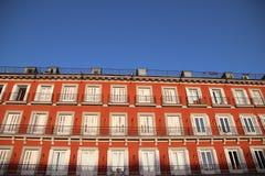 Δήμαρχος Plaza - κύριο τετράγωνο στη Μαδρίτη, Ισπανία Στοκ φωτογραφία με δικαίωμα ελεύθερης χρήσης