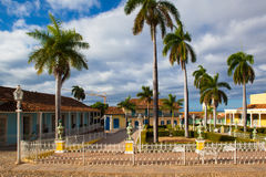 Δήμαρχος Plaza - κύριο τετράγωνο του Τρινιδάδ, Κούβα Στοκ εικόνες με δικαίωμα ελεύθερης χρήσης
