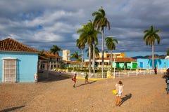 Δήμαρχος Plaza - κύριο τετράγωνο του Τρινιδάδ, Κούβα Στοκ Εικόνες