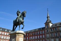 Δήμαρχος Plaza, Μαδρίτη Στοκ Φωτογραφία