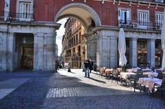 Δήμαρχος Plaza Μαδρίτη Ισπανία Στοκ φωτογραφία με δικαίωμα ελεύθερης χρήσης