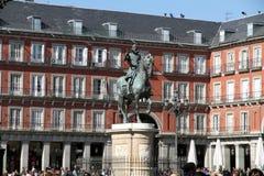 Δήμαρχος Plaza, πόλη της Μαδρίτης, Ισπανία Στοκ φωτογραφία με δικαίωμα ελεύθερης χρήσης