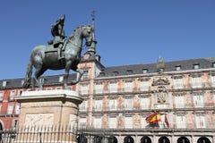 Δήμαρχος Plaza, πόλη της Μαδρίτης, Ισπανία Στοκ εικόνα με δικαίωμα ελεύθερης χρήσης