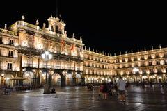 Δήμαρχος Plaza Σαλαμάνκας στην Ισπανία Στοκ φωτογραφία με δικαίωμα ελεύθερης χρήσης