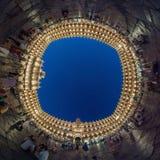 Δήμαρχος Plaza σε Σαλαμάνκα, Ισπανία τη νύχτα Στοκ Εικόνες