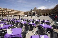 Δήμαρχος Plaza σε Σαλαμάνκα, Ισπανία Στοκ φωτογραφίες με δικαίωμα ελεύθερης χρήσης