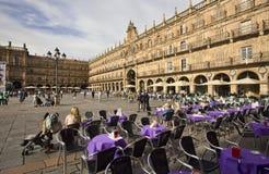 Δήμαρχος Plaza σε Σαλαμάνκα, Ισπανία Στοκ Εικόνα