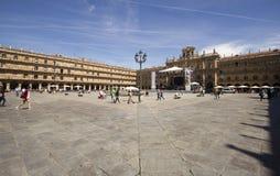 Δήμαρχος Plaza σε Σαλαμάνκα, Ισπανία Στοκ φωτογραφία με δικαίωμα ελεύθερης χρήσης