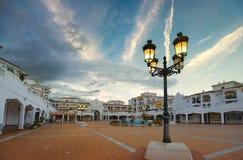 Δήμαρχος Plaza σε Benalmadena Ανδαλουσία, Ισπανία Στοκ Φωτογραφίες