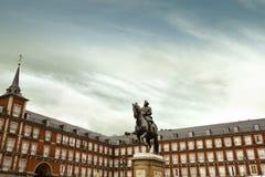 Δήμαρχος Plaza στη Μαδρίτη, Ισπανία Στοκ Εικόνα