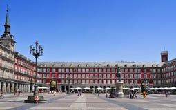 Δήμαρχος Plaza στη Μαδρίτη, Ισπανία Στοκ εικόνα με δικαίωμα ελεύθερης χρήσης
