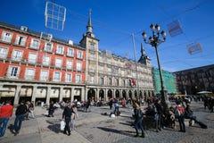 Δήμαρχος Plaza στη Μαδρίτη, Ισπανία Στοκ φωτογραφίες με δικαίωμα ελεύθερης χρήσης