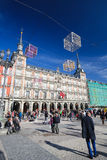 Δήμαρχος Plaza στη Μαδρίτη, Ισπανία Στοκ Φωτογραφίες