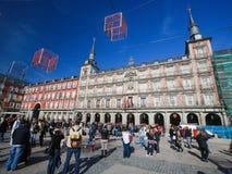 Δήμαρχος Plaza στη Μαδρίτη, Ισπανία Στοκ Εικόνες