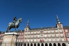 Δήμαρχος Plaza στη Μαδρίτη Στοκ Εικόνες