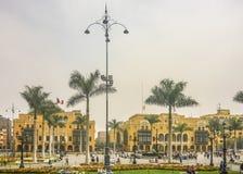 Δήμαρχος Plaza της Λίμα στο Περού Στοκ Φωτογραφία