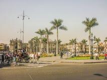 Δήμαρχος Plaza του της Λίμα Περού Στοκ Εικόνα