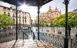 Δήμαρχος Plaza Segovia, Καστίλλη Υ Leon, Ισπανία Στοκ εικόνα με δικαίωμα ελεύθερης χρήσης