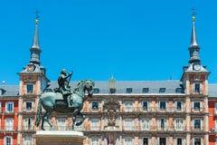 Δήμαρχος Square, Μαδρίτη Στοκ φωτογραφία με δικαίωμα ελεύθερης χρήσης