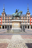 Δήμαρχος & x28 Plaza Κύριο Square& x29  στη Μαδρίτη Στοκ φωτογραφίες με δικαίωμα ελεύθερης χρήσης