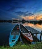 Δίδυμη βάρκα στοκ εικόνες