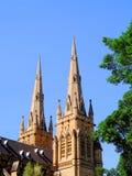 Δίδυμοι κώνοι, καθεδρικός ναός του ST Mary ` s, Σίδνεϊ, Αυστραλία στοκ εικόνες