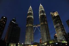 Δίδυμοι πύργοι της Κουάλα Λουμπούρ, Κουάλα Λουμπούρ Μαλαισία Στοκ Εικόνες