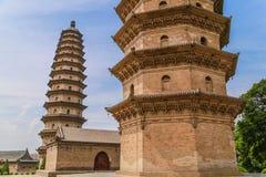 Δίδυμοι πύργοι το 1600 το s στοκ εικόνες με δικαίωμα ελεύθερης χρήσης