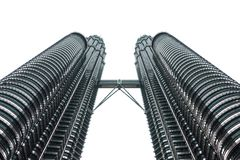 Δίδυμοι πύργοι Petronas στην Κουάλα Λουμπούρ, Μαλαισία Στοκ εικόνα με δικαίωμα ελεύθερης χρήσης