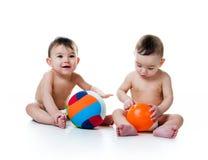 δίδυμο αδελφών σφαιρών Στοκ φωτογραφία με δικαίωμα ελεύθερης χρήσης