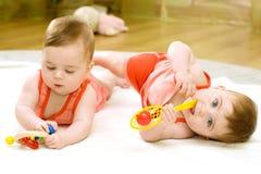 δίδυμο κοριτσιών Στοκ Εικόνα