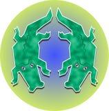 δίδυμο gators Στοκ Εικόνα