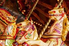 Δίκαια άλογα ιπποδρομίων διασκέδασης Στοκ φωτογραφία με δικαίωμα ελεύθερης χρήσης