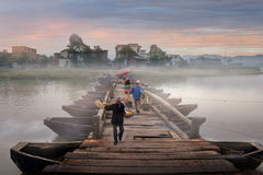 Δίκαιη επαρχία Κίνα jiangxi γεφυρών χώρας Στοκ Εικόνες