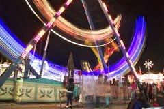 Δίκαιη ρόδα πορθμείων καρναβαλιού στην ταχύτητα Στοκ εικόνα με δικαίωμα ελεύθερης χρήσης