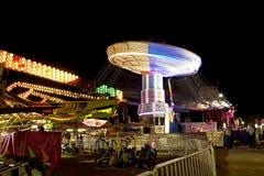 Δίκαιη ρόδα πορθμείων καρναβαλιού στην ταχύτητα Στοκ φωτογραφία με δικαίωμα ελεύθερης χρήσης
