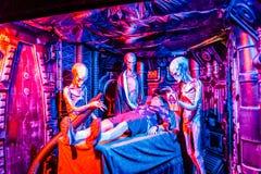 Δίκαιος αλλοδαπός διαγωνισμός του Μπους UFO πεύκων στοκ φωτογραφία με δικαίωμα ελεύθερης χρήσης