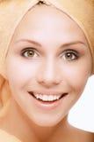 δίκαιο κορίτσι λουτρών α&p Στοκ Εικόνα
