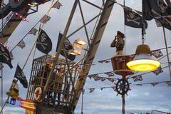 Δίκαιο σκάφος πειρατών πάρκων καρναβαλιού Luna διασκέδασης Στοκ Φωτογραφίες