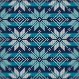 Δίκαιο σχέδιο πουλόβερ νησιών πλεκτό ύφος πλέκοντας πρότυπο άνευ ρα&p Στοκ Φωτογραφία