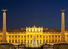 δίκαιο schoenbrunn Βιέννη Χριστουγ στοκ εικόνες με δικαίωμα ελεύθερης χρήσης
