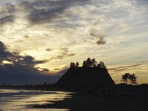 Δίκρανα - τοπίο κινηματογράφων λυκόφατος Στοκ Εικόνες